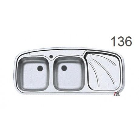 سینک ظرفشویی اخوان محصولات اخوان - مدل 136