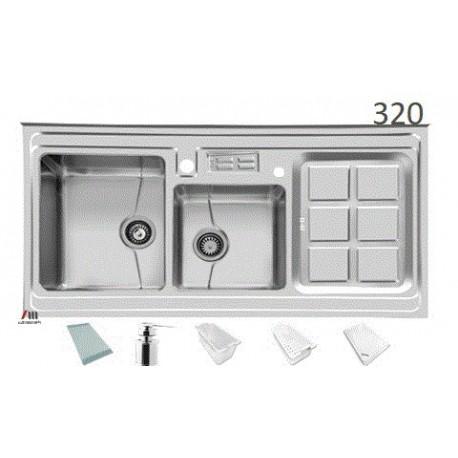سینک ظرفشویی اخوان محصولات اخوان - مدل 320-S