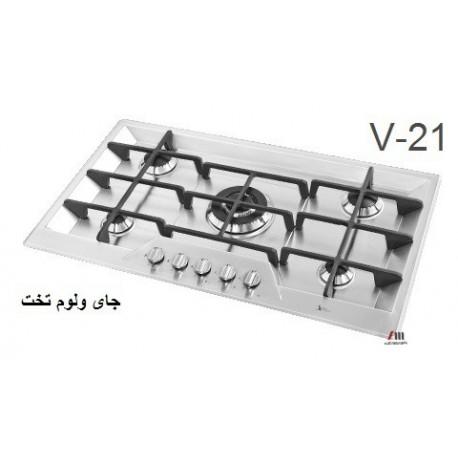 گاز صفحه ای - رومیزی اخوان محصولات اخوان - مدل v21 ونوس
